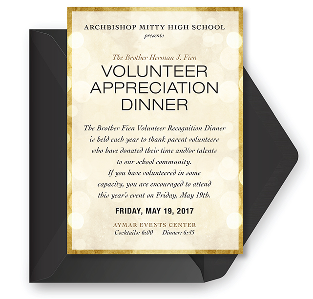 Volunteer Appreciation Dinner Invitation
